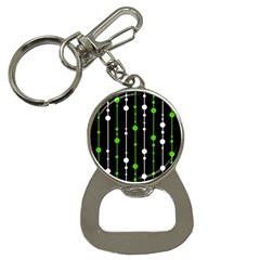 Green, white and black pattern Bottle Opener Key Chains