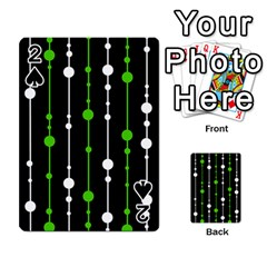 Green, white and black pattern Playing Cards 54 Designs