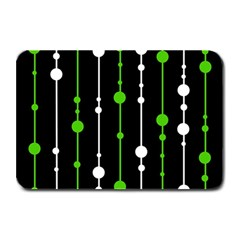 Green, white and black pattern Plate Mats