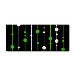 Green, white and black pattern Hand Towel