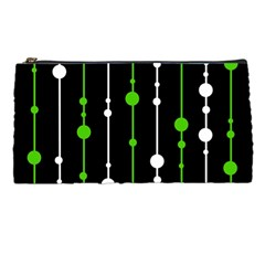 Green, white and black pattern Pencil Cases