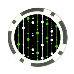 Green, white and black pattern Poker Chip Card Guards (10 pack)