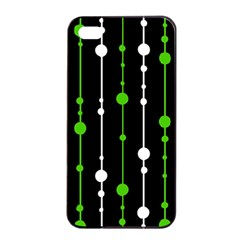 Green, white and black pattern Apple iPhone 4/4s Seamless Case (Black)