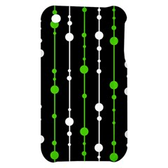 Green, white and black pattern Apple iPhone 3G/3GS Hardshell Case