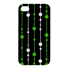 Green, white and black pattern Apple iPhone 4/4S Premium Hardshell Case
