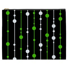 Green, white and black pattern Cosmetic Bag (XXXL)
