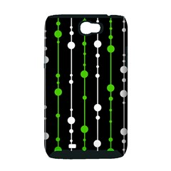 Green, white and black pattern Samsung Galaxy Note 2 Hardshell Case (PC+Silicone)