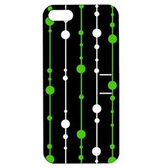 Green, white and black pattern Apple iPhone 5 Hardshell Case with Stand