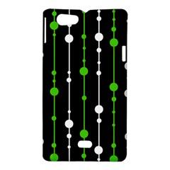 Green, white and black pattern Sony Xperia Miro