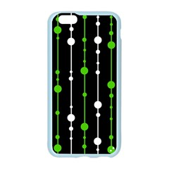 Green, white and black pattern Apple Seamless iPhone 6/6S Case (Color)
