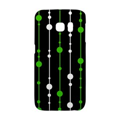 Green, white and black pattern Galaxy S6 Edge