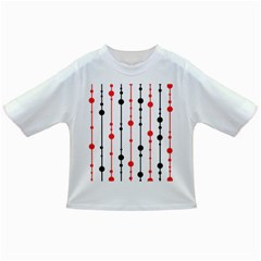 Red, black and white pattern Infant/Toddler T-Shirts