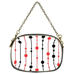 Red, black and white pattern Chain Purses (One Side)