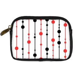 Red, black and white pattern Digital Camera Cases