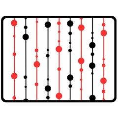 Red, black and white pattern Fleece Blanket (Large)