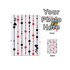 Red, black and white pattern Playing Cards 54 (Mini)