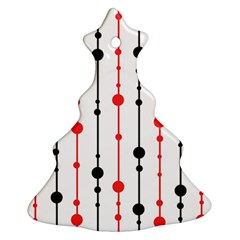 Red, black and white pattern Ornament (Christmas Tree)