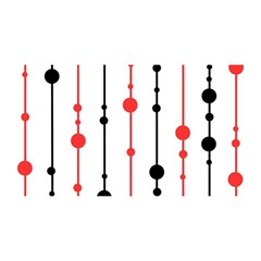 Red, black and white pattern YOU ARE INVITED 3D Greeting Card (8x4)
