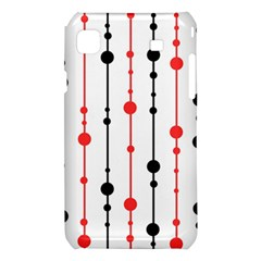 Red, black and white pattern Samsung Galaxy S i9008 Hardshell Case