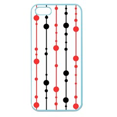 Red, black and white pattern Apple Seamless iPhone 5 Case (Color)