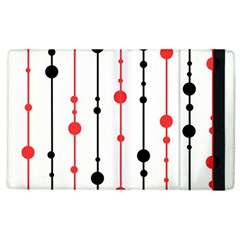 Red, black and white pattern Apple iPad 2 Flip Case