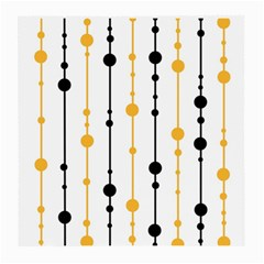 Yellow, black and white pattern Medium Glasses Cloth (2-Side)