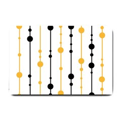 Yellow, black and white pattern Small Doormat
