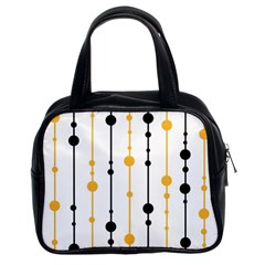 Yellow, black and white pattern Classic Handbags (2 Sides)