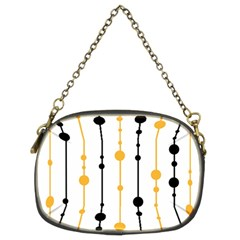 Yellow, black and white pattern Chain Purses (Two Sides)