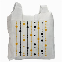 Yellow, black and white pattern Recycle Bag (One Side)