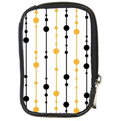 Yellow, black and white pattern Compact Camera Cases