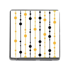 Yellow, black and white pattern Memory Card Reader (Square)