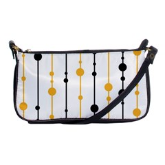 Yellow, black and white pattern Shoulder Clutch Bags