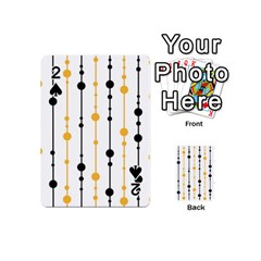 Yellow, black and white pattern Playing Cards 54 (Mini)