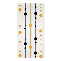 Yellow, black and white pattern Shower Curtain 36  x 72  (Stall)