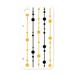 Yellow, black and white pattern Apple iPhone 4 Case (White)