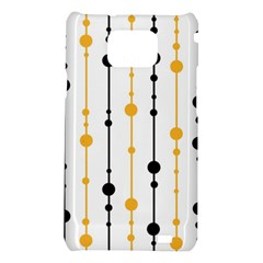 Yellow, black and white pattern Samsung Galaxy S2 i9100 Hardshell Case