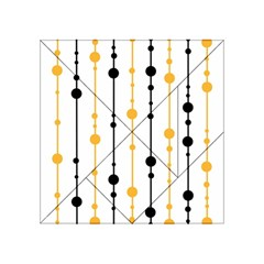 Yellow, black and white pattern Acrylic Tangram Puzzle (4  x 4 )