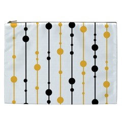Yellow, black and white pattern Cosmetic Bag (XXL)