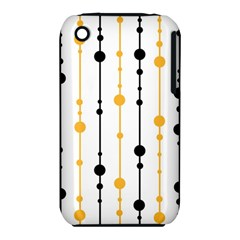 Yellow, black and white pattern Apple iPhone 3G/3GS Hardshell Case (PC+Silicone)