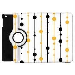 Yellow, black and white pattern Apple iPad Mini Flip 360 Case