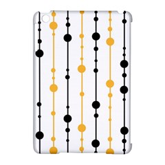Yellow, black and white pattern Apple iPad Mini Hardshell Case (Compatible with Smart Cover)