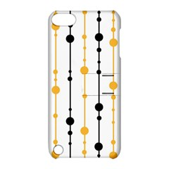 Yellow, black and white pattern Apple iPod Touch 5 Hardshell Case with Stand
