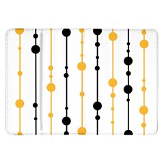Yellow, black and white pattern Samsung Galaxy Tab 8.9  P7300 Flip Case