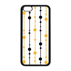 Yellow, black and white pattern Apple iPhone 5C Seamless Case (Black)