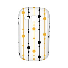 Yellow, black and white pattern Samsung Galaxy S6810 Hardshell Case