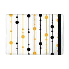 Yellow, black and white pattern iPad Mini 2 Flip Cases