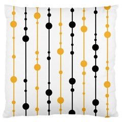 Yellow, black and white pattern Large Flano Cushion Case (One Side)