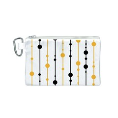 Yellow, black and white pattern Canvas Cosmetic Bag (S)