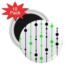Green pattern 2.25  Magnets (10 pack)
